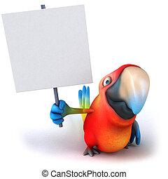 Lustiger Papagei.