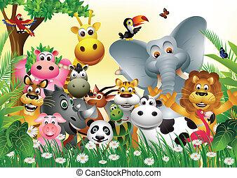 Lustiger Tier-Zeichentrickfilm