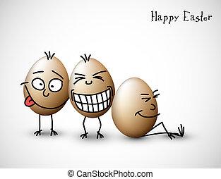 lustiges, eier, ostern