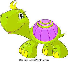 lustiges, turtle, reizend