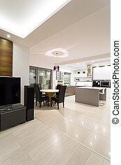 Luxus helles Interieur.