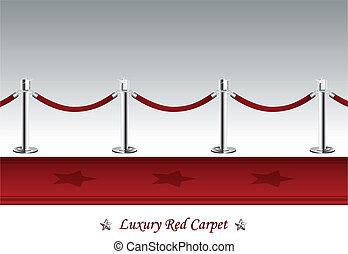 Luxus-Roter Teppich mit Sperrseil.