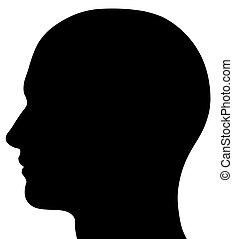 Männliche Kopfsilhouette