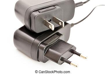 macht, stecker, ac, adapter