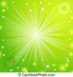 Magisches Licht, grünes Hintergrund abbrechen.