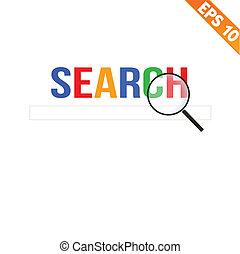 Magnifier erweitert das Suchkonzept - Vektorgrafik - EPS10.