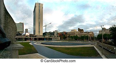 Manchester-City-Center, Piccadilly-Gärtner Leitartikel
