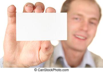 Mann mit Karte für SMS