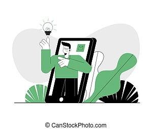 mann, smartphone