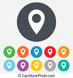 Map Pointer Icon. GPS Ortssymbol.