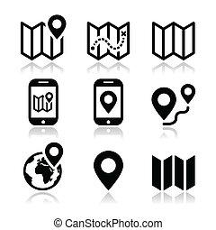 Map Travel Icons gesetzt.