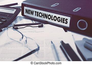 mappe ring, neu , technologies., inschrift