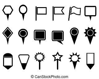 Mappointer und Navigations-Ikonen