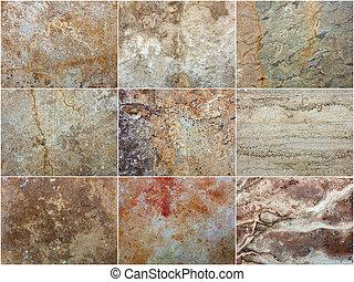 Marble Set Textur Dekorative Stein Interieur.
