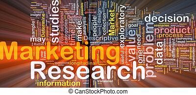 marketing, glühen, begriff, hintergrund, forschung