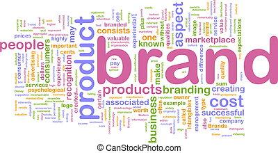 marketing, marke, begriff, hintergrund