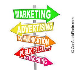 marketing, zeichen & schilder, werbung, pfeil, kommunikation