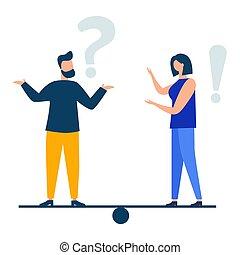 markierungen, abbildung, fragte, frequently, abbildung, fragezeichen, antwort, vektor, fragen, ausruf, metaphor., begrifflich