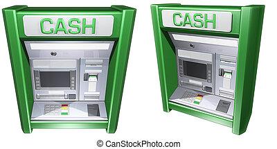 maschine, geldautomat, bargeld