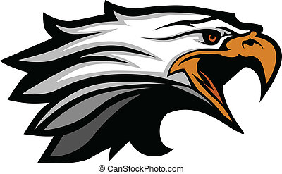Maskottchenkopf eines Adlervektors