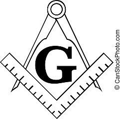 masonic, kompaß, quadrat, freemason, symbol