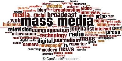 Massenmedien-Wortwolke