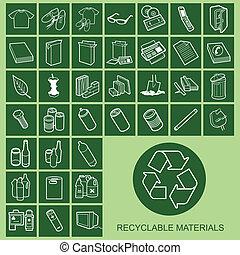 material, heiligenbilder, recycelbar