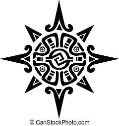 Maya oder Inka-Symbol für Sonne oder Stern