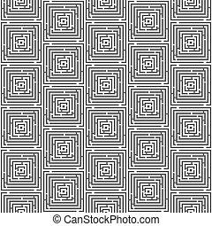 Maze nahtlose Muster vektorgrafik (Labyrinth Hintergrund)