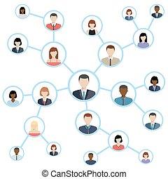 medien, concept., anschluss, vernetzung, sozial