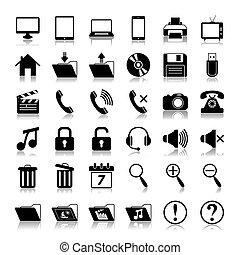 Medien-Icons eingestellt