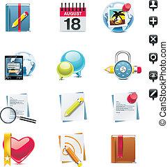 medien, set., vektor, sozial, p.3, ikone