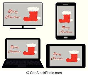 medien, weihnachten, digital