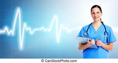 Medizinische Ärztin. Gesundheitsfürsorge.
