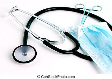 Medizinische Instrumente eins.
