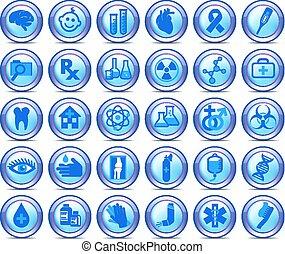 Medizinische Symbole Sammlung, Symbole, Satz 2.