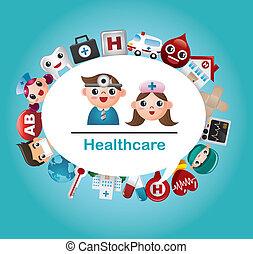Medizinische und Krankenhauskarte