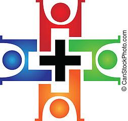 Medizinisches Teamwork-Logo