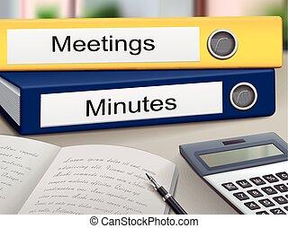 Meetings und Protokolle.