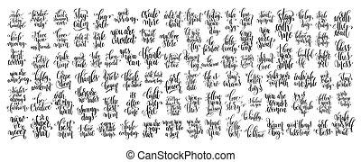 Mega-Set von 100 Hand schriftlichen schriftlichen Motivationsansätzen.