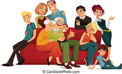 Mehrere Generationen Familie