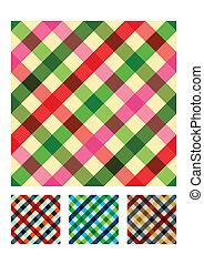 Mehrfarbige Tischtuch Texturmuster