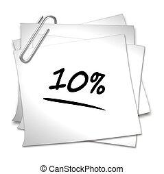 Memo mit Büroklammer - 10 %