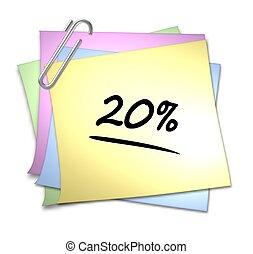 Memo mit Büroklammer - 20 %