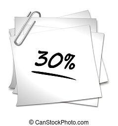 Memo mit Büroklammer - 30 %