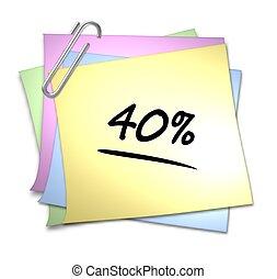 Memo mit Büroklammer - 40 %