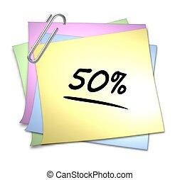Memo mit Büroklammer - 50 %