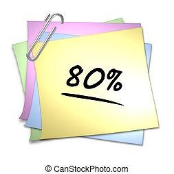 Memo mit Büroklammer - 80 %