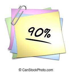 Memo mit Büroklammer - 90 %