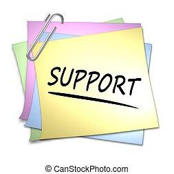 Memo mit Büroklammer - Unterstützung
